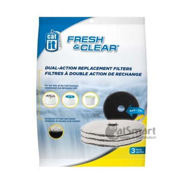 Catit Fresh & Clear Dual Action Replacement Filter 3 Packs