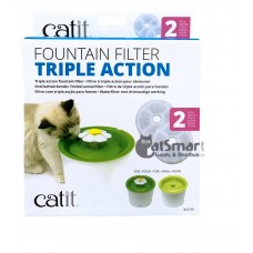 Catit Fountain Filter Triple Action 2pcs