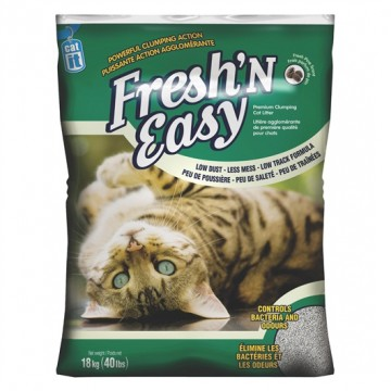 Catit Fresh'N Easy Premium Clumping Cat Litter 18kg (3 Packs)