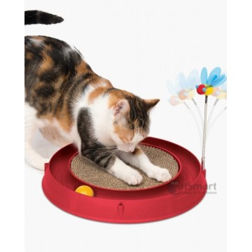 Catit Play 3-In-1 Circuit Ball Toy With Scratch Pad