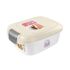Catidea Luxury Single Open Petfood Container 2kg Cream