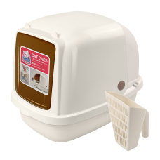 Catidea Cat Ears Litter Box Cream