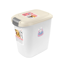 Catidea Luxury Double Open Petfood Container 5kg Cream