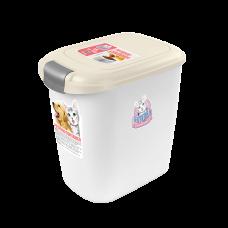 Catidea Luxury Single Open Petfood Container 15kg Cream