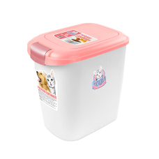 Catidea Luxury Double Open Petfood Container 5kg Pink