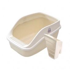 Catidea Shark Cat Litter Box Cream Large