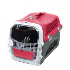 Catit Design Cabrio Cat Multi-Functional Carrier System Cherry Red