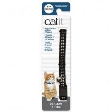 Catit Adjustable Nylon Collar with Rivets Reflective Black