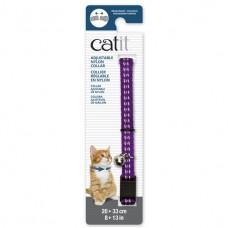 Catit Adjustable Nylon Collar with Rivets Reflective Purple