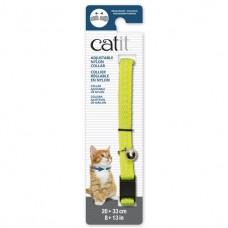 Catit Adjustable Nylon Collar with Rivets Reflective Yellow