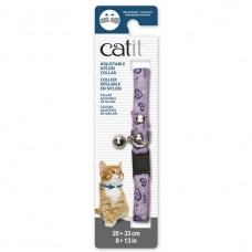 Catit Adjustable Nylon Collar with Rivets Pink with Purple Hearts