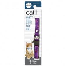 Catit Adjustable Nylon Collar with Rivets Purple with Ladybugs