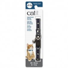 Catit Adjustable Nylon Collar with Rivets Blue Nautical
