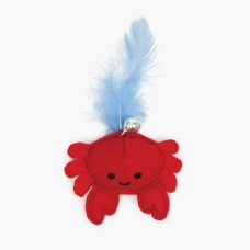 Catit Play Pirates Catnip Toy Crab With Feather
