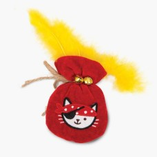 Catit Play Pirates Catnip Toy Pouch Of Gold With Feather