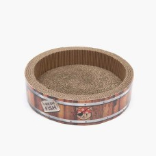 Catit Play Pirates Barrel Scratcher with Catnip (S)