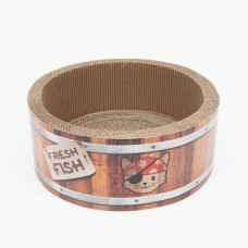 Catit Play Pirates Barrel Scratcher with Catnip (L)
