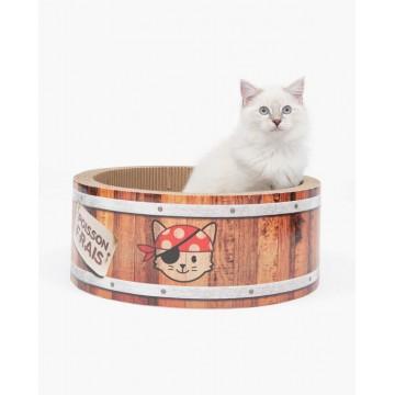 Catit Play Pirates Barrel Scratcher with Catnip (L)