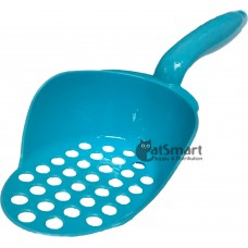 Cat Litter Scoop Oval Shape Round Holes Blue