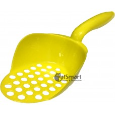 Cat Litter Scoop Oval Shape Round Holes Yellow