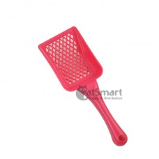 Cat Litter Scoop Rectangular Shape Diamond Holes Pink