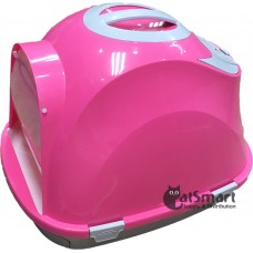 Cat Litter Box Closed With Drawer & Gridding Pink