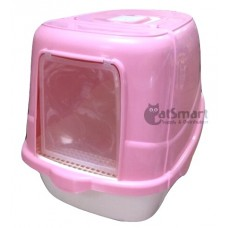 Cat Litter Box Closed Pink