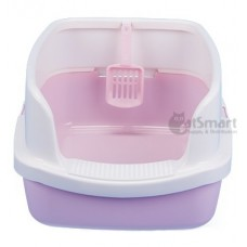 Cat Litter Box Half Cover Pink