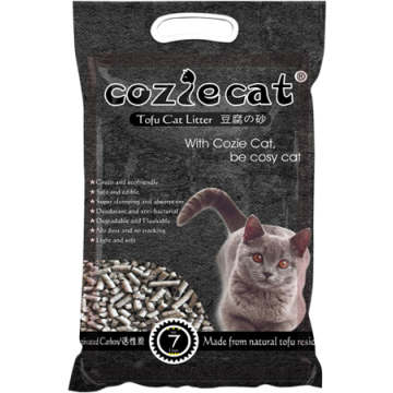Cozie Cat Tofu Cat Litter Activated Charcoal 7L