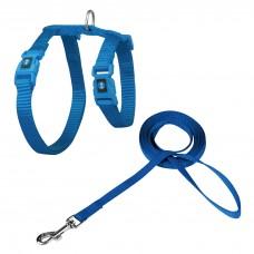 Doco Furball Cat Harness & Leash Combo Blue