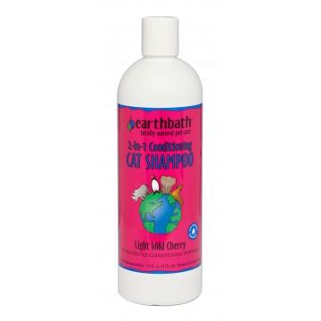 Earthbath 2 In 1 Conditioning Light Wild Cherry Cat Shampoo 472mL