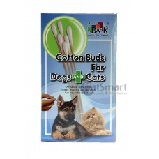 Bark Cotton Buds For Dogs And Cats (M) 50s