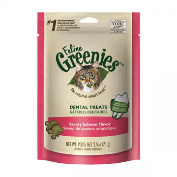 Feline Greenies Dental Treats Savory Salmon 71g
