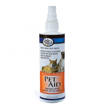 Four Paws Pet Aid Medicated Anti-Itch Spray 237ml