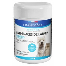 Francodex Tear Stain Removal Wipes 50s