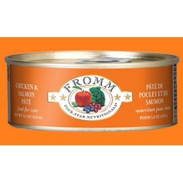 Fromm Chicken & Salmon Pate 156g Carton (12 Cans)