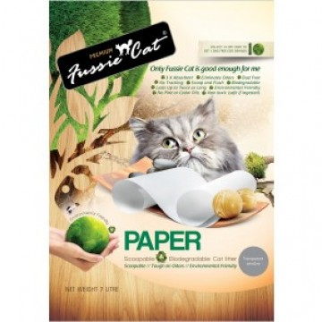 Fussie Cat Natural Paper Cat Litter 7L (4 Packs)