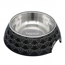 FuzzYard Easy Feeder Black Diamond (Small) Pet Bowl 190ml