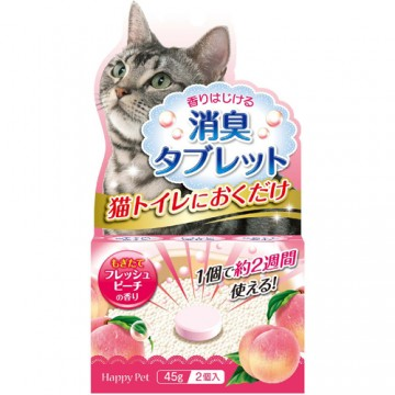 Happy Pet Deodorant Tablet for Cat Toilet Fresh Peach (2x45g)