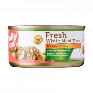 Jolly Cat Fresh White Meat Tuna And Crab In Gravy 80g  Carton (24 Cans)