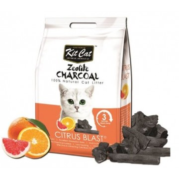 Kit Cat Zeolite Charcoal Citrus Blast 4kg (3 Packs)