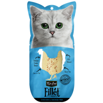 Kit Cat Fillet Fresh Chicken & Smoked Fish 30g
