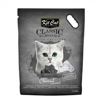 Kit Cat Classic Crystal Charcoal 5L (4 Packs)