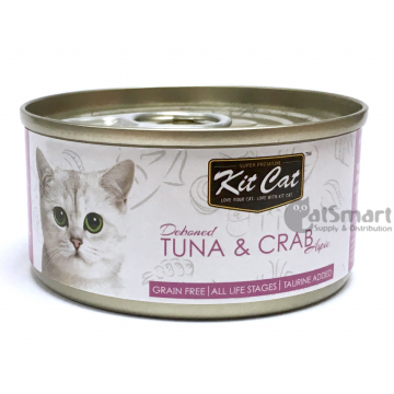 Kit Cat Deboned Tuna & Crab 80g Carton (24 Cans)