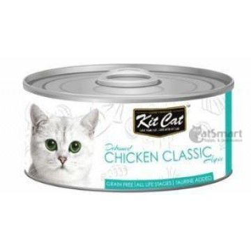 Kit Cat Deboned Chicken Classic 80g Carton (24 Cans)