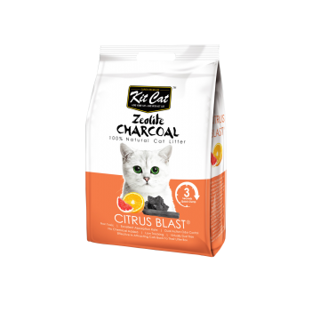 Kit Cat Zeolite Charcoal Citrus Blast 4kg