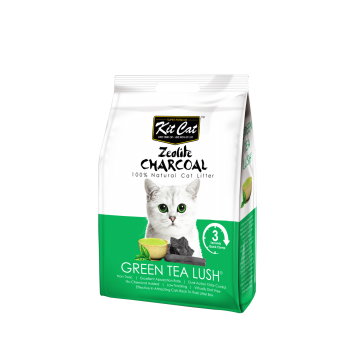 Kit Cat Zeolite Charcoal Green Tea Lush 4kg (3 Packs)