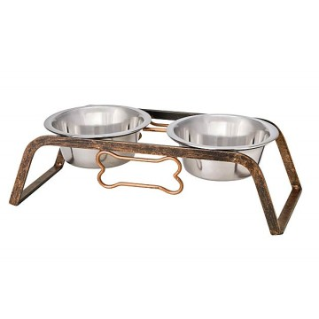 Black Label Rustic Bone Raised Double Diner – Aged Copper