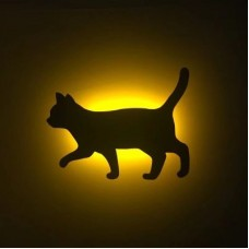 Lumewnous LED Cat Walking Shape Induction Night Light