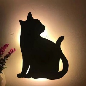 Lumewnous LED Cat Head Tilt Shape Induction Night Light